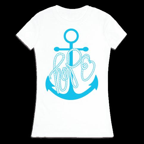 Hope (Blue) Womens T-Shirt