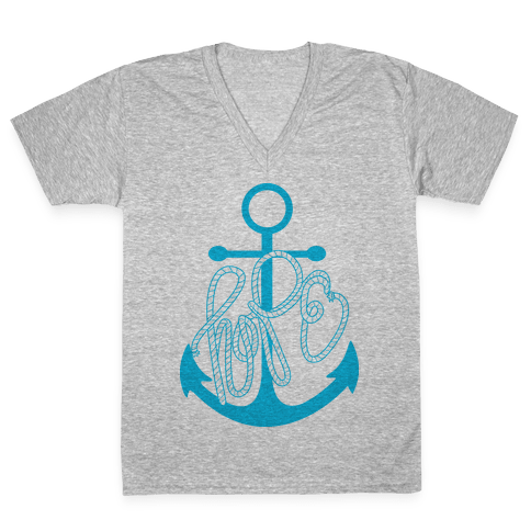 Hope (Blue) V-Neck Tee Shirt