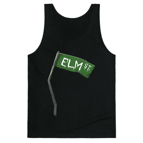 Elm Street (Horror Movie Street Sign) Tank Top