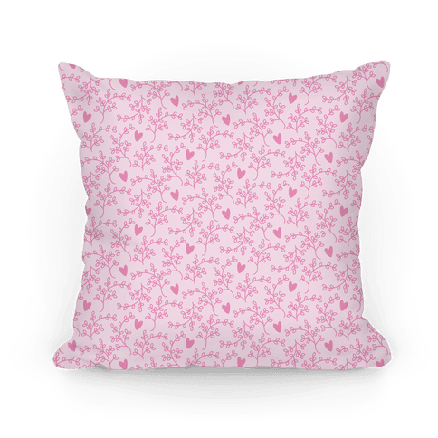 Pink Floral Hearts Pattern