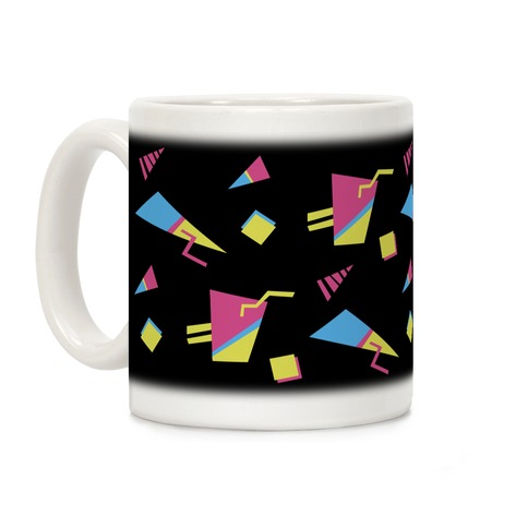 Black 80s/90s Pattern Coffee Mug
