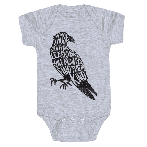 Those Of Wit And Learning Will Always Find Their Kind (Ravenclaw) Baby Onesy