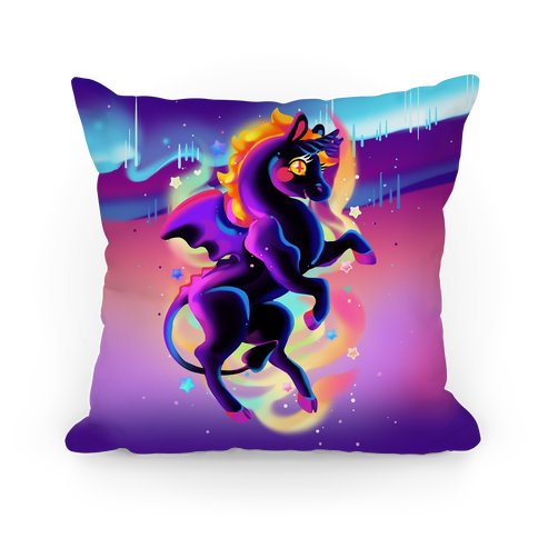 Neon Rainbow Jersey Devil Pillow