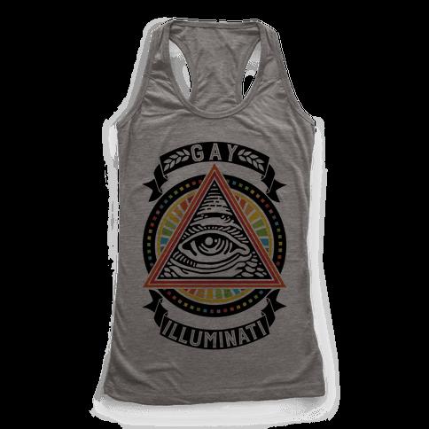 Gay Illuminati Racerback Tank Top