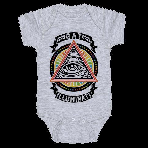 Gay Illuminati Baby Onesy