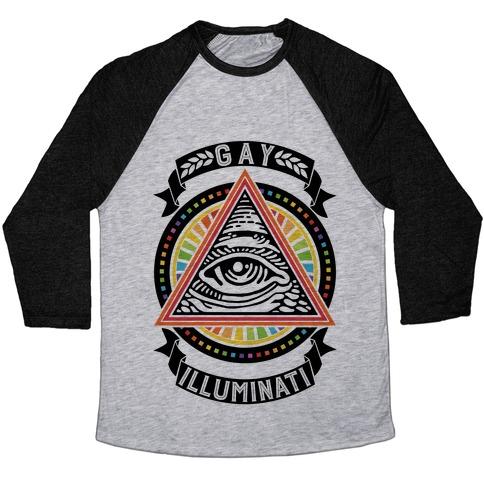 Gay Illuminati Baseball Tee