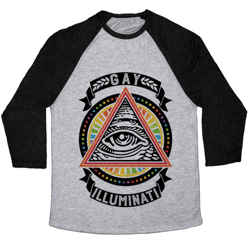Gay Illuminati Baseball Tee