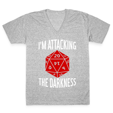 I'm Attacking The Darkness V-Neck Tee Shirt