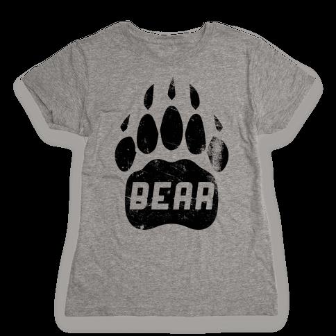 Bears Red Black& White Womens T-Shirt