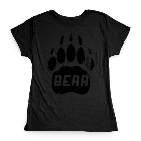 Bears Red Black& White Womens T-Shirt