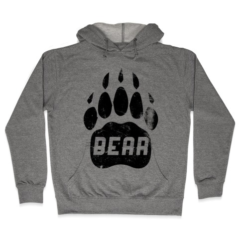 Bears Red Black& White Hooded Sweatshirt