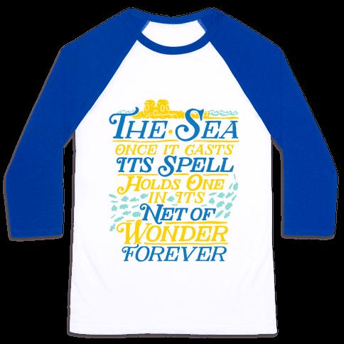 The Sea Baseball Tee