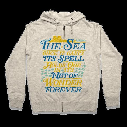 The Sea Zip Hoodie