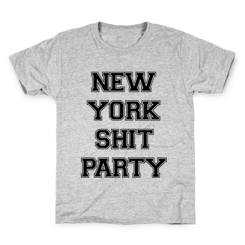 New York Shit Party Kids T-Shirt