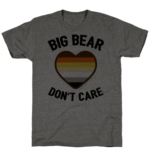 Big Bear, Don't Care Mens T-Shirt