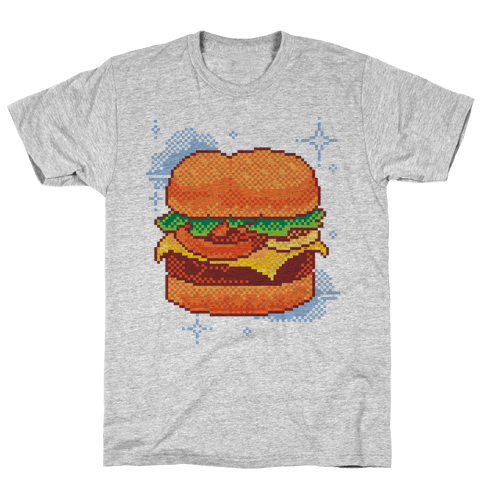 Pixel Burger Mens T-Shirt