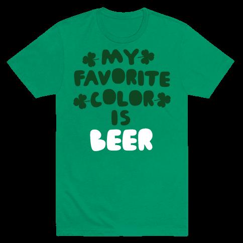 My Favorite Color Is Beer  Mens T-Shirt