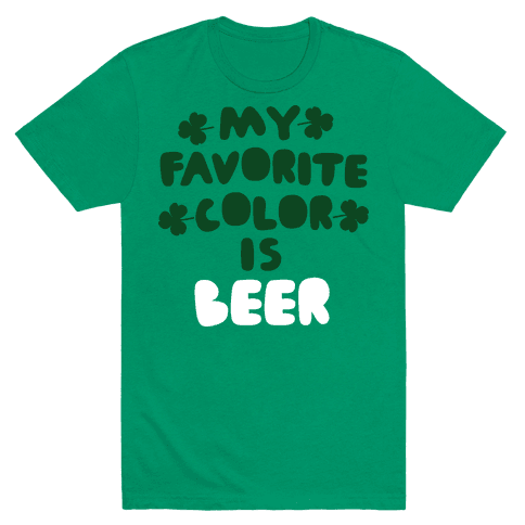 My Favorite Color Is Beer  Mens T-Shirt