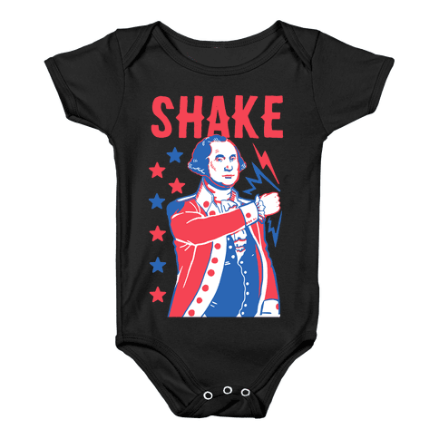 Shake & Bake: George Washington Baby Onesy