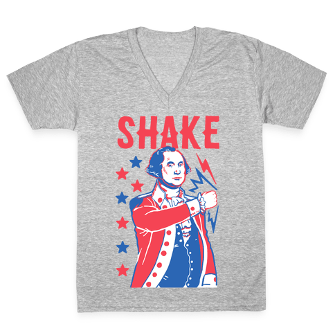 Shake & Bake: George Washington V-Neck Tee Shirt