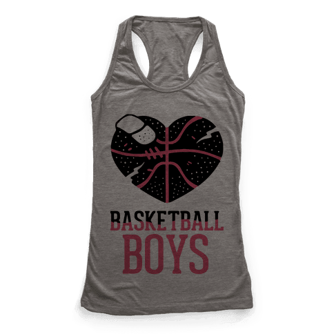 Basketball Boys Racerback Tank Top