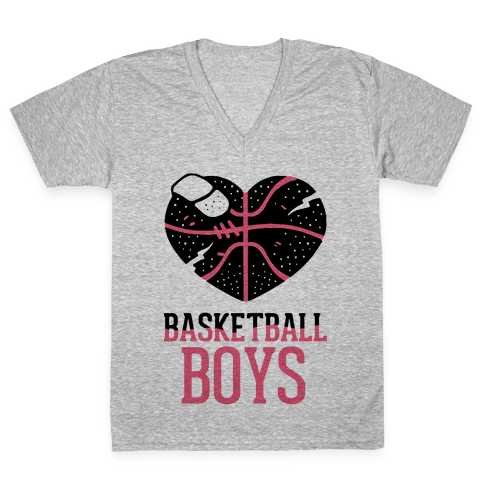Basketball Boys V-Neck Tee Shirt
