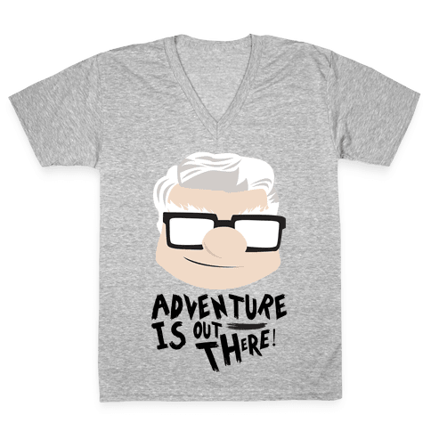 Adventure Is Out There V-Neck Tee Shirt