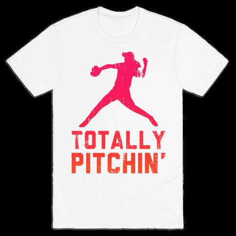 Totally Pitchin (Tank) Mens T-Shirt