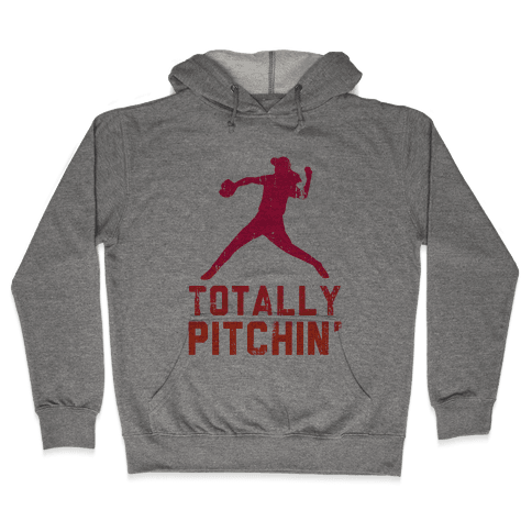 Totally Pitchin (Tank) Hooded Sweatshirt