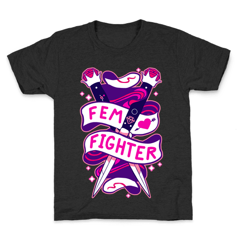 Fem Fighter Kids T-Shirt