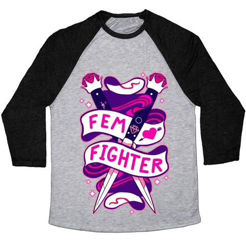 Fem Fighter Baseball Tee