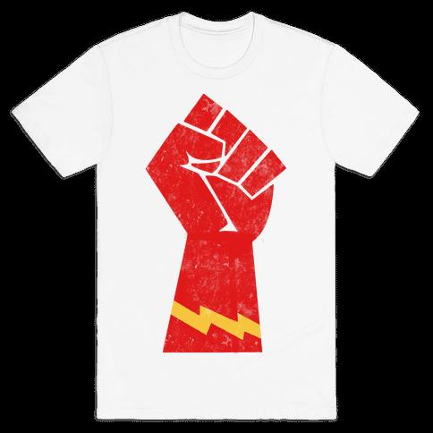 Flash Fist Mens T-Shirt