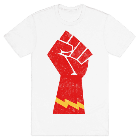 Flash Fist Mens T-Shirt