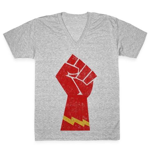 Flash Fist V-Neck Tee Shirt