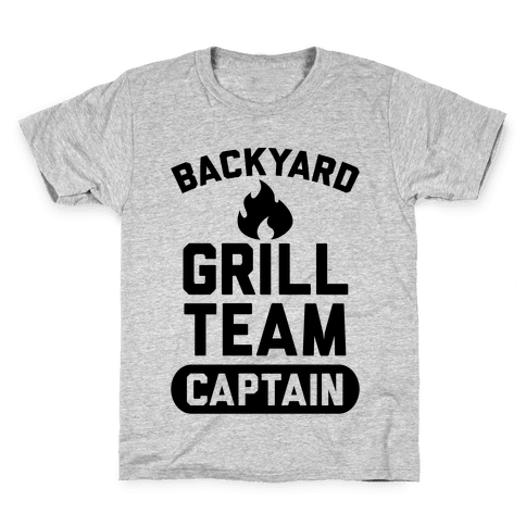 Backyard Grill Team Captain Kids T-Shirt
