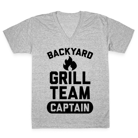 Backyard Grill Team Captain V-Neck Tee Shirt