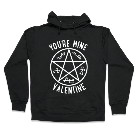 Devil's Trap Supernatural Valentine Hooded Sweatshirt