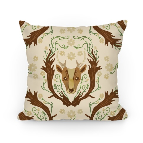 Floral Deer Pillow