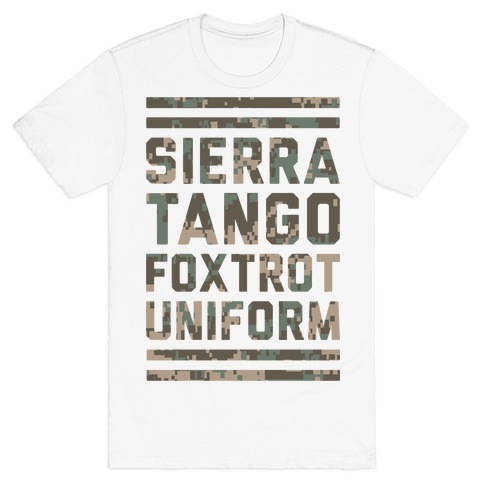 Sierra Tango Foxtrot Uniform Mens T-Shirt