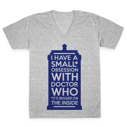 Doctor Who Obsession V-Neck Tee Shirt