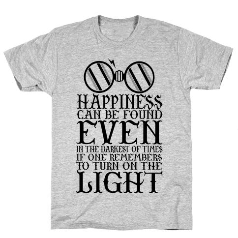 Turn on the Light Mens T-Shirt