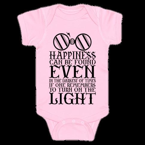 Turn on the Light Baby Onesy