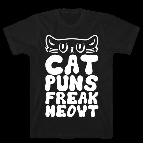 Cat Puns Freak Meowt Mens T-Shirt