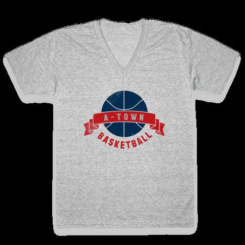 ATL Basketball V-Neck Tee Shirt