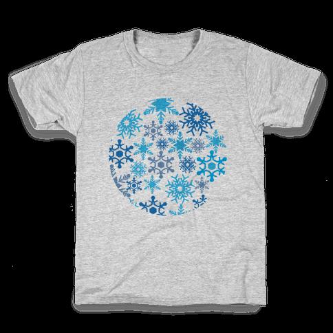Snowflake Sphere Kids T-Shirt