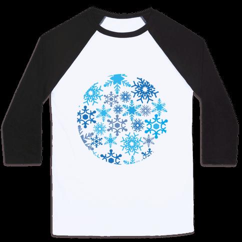 Snowflake Sphere Baseball Tee