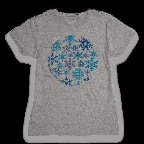 Snowflake Sphere Womens T-Shirt