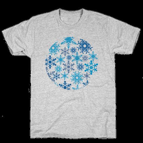 Snowflake Sphere Mens T-Shirt