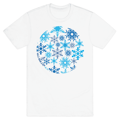 Snowflake Sphere Mens T-Shirt