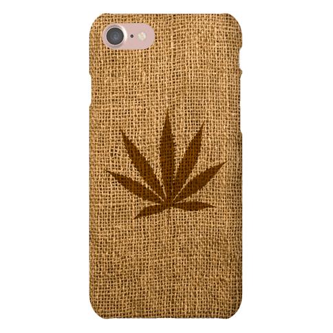 Faux Burlap Weed Case Phone Case